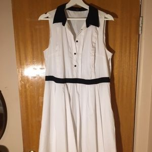 Marc Jacobs White and Black Dress